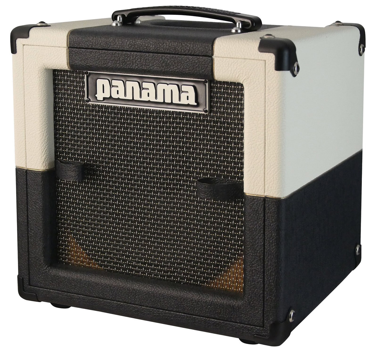 panama conqueror 5 watt mini hand wired tube guitar 1x10 combo amp white black ebay. Black Bedroom Furniture Sets. Home Design Ideas