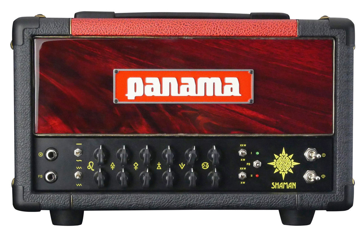 panama shaman 20 watt tube guitar amplifier head red black free us ship ebay. Black Bedroom Furniture Sets. Home Design Ideas